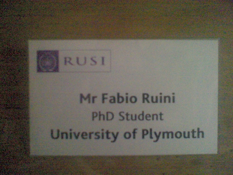 Badge, RUSI conference