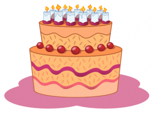 Birthday cake (clipart)