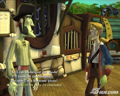 Tales of Monkey Island - Guybrush chatting using his famous idiot sentences