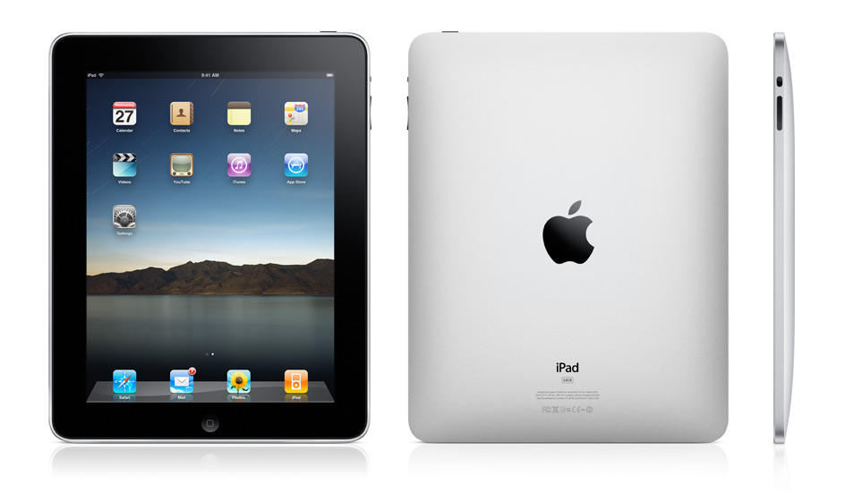 Apple iPad: front and back view