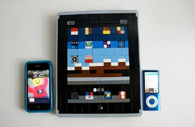 Apple's iPad made of LEGO bricks