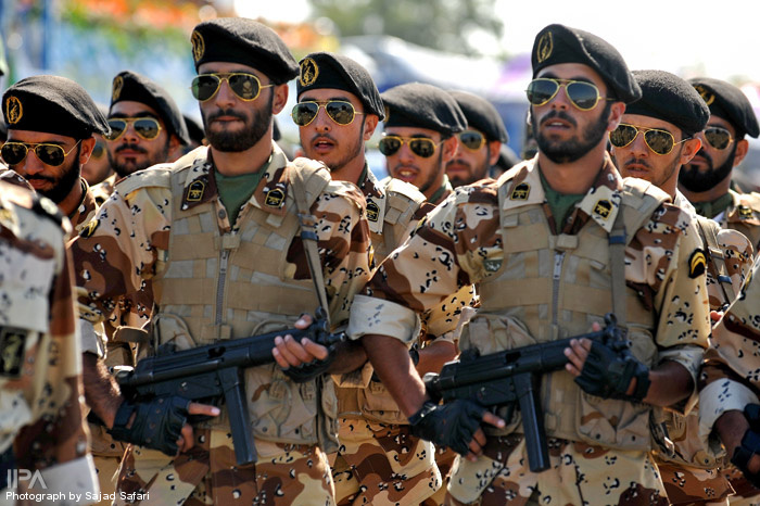 Iranian Military Parade 2010 - Soliders wearing fake Rayban sunglasses