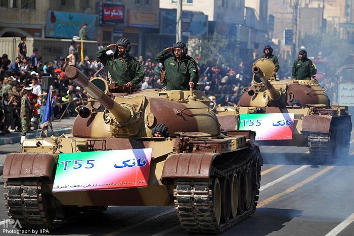 Iranian Military Parade 2010 - T55 tank